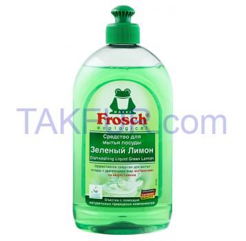 Жидкость для мытья посуды Frosch Зеленый лимон 500мл - Фото