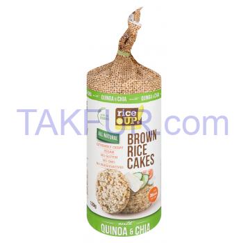 Хлебцы Rice Up рисовые цельнозерновые с киноа и чиа 120г - Фото