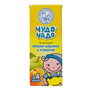 Сок Чудо-Чадо яблочно-абрикосовый 0,2л - Фото