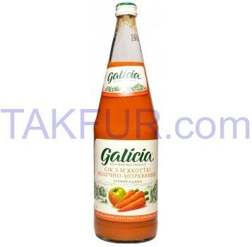 Сок Galicia Яблочно-морковный с мякотью 1л стеклян бутылка - Фото