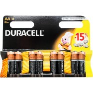 Элемент пит Duracell щелоч АА 1,5V 8шт - Фото