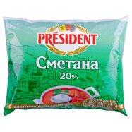 Сметана President 20% 350г - Фото