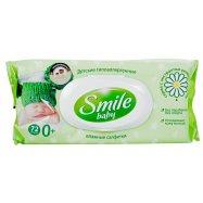 Салфетки влаж Smile дет алоэ+ромаш 72шт - Фото