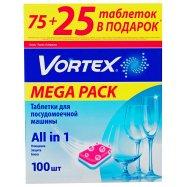Таблетки Vortex посудом маш 100шт - Фото