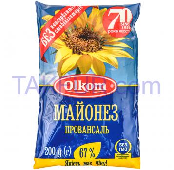 Майонез Олком Провансаль 67% 200г - Фото