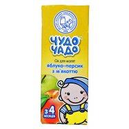 Сок Чудо-Чадо яблочно-персиковый 0,2л - Фото