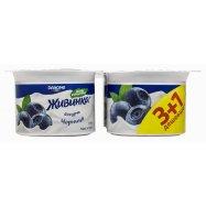 Йогурт Жив DAN 1,5% Черн 115г*4 - Фото