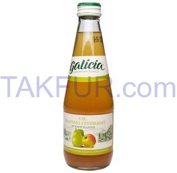 Сок Galicia Яблочно-грушевый неосветлённый пастеризован 0,3л - Фото