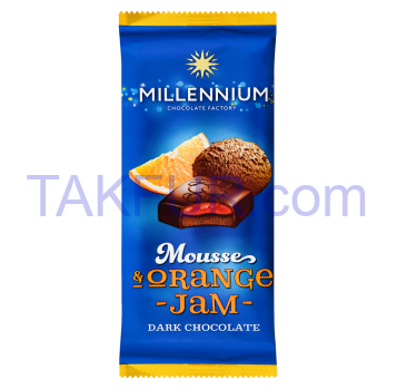 Шоколад Millennium Mousse Orange Jam черный 135г - Фото