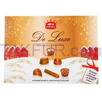 Конфеты Корона De luxe коллекция в молочном шоколаде 146г - Фото