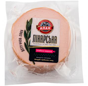 Колбаса Алан Докторская вареная высшего сорта кг - Фото
