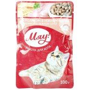 Корм Мяу! консер для кошек кролик 100г - Фото