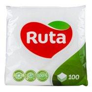Салфетки Ruta белые бумаж 100шт - Фото