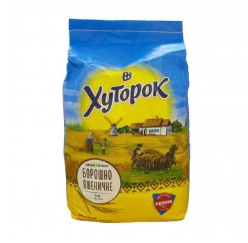 Мука Хуторок пшеничная высший сорт 5кг - Фото