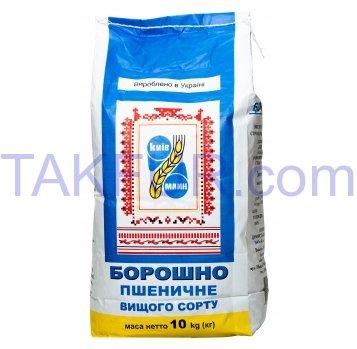 Мука пшеничная высш сорта Киевмлын 10кг - Фото