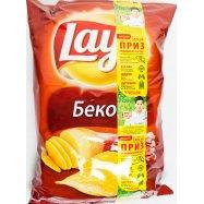 Чипсы картофельные вкус бекон Lay's 133г - Фото