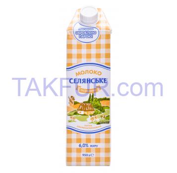 МолокоСелянське Особое питьевое ультрапастериз 6% 950г - Фото