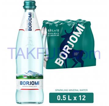 Вода минеральная Borjomi сильногазиров лечебно-столовая 0,5л - Фото