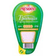 Творог President Твор Трад 9% 250г - Фото