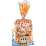 Хлеб Рум'янец Заварн со льном порез 350г - Фото