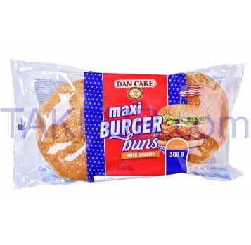 Булочки Dan Cake Burger buns maxi д/гамб с кунж 75г*4шт 300г - Фото