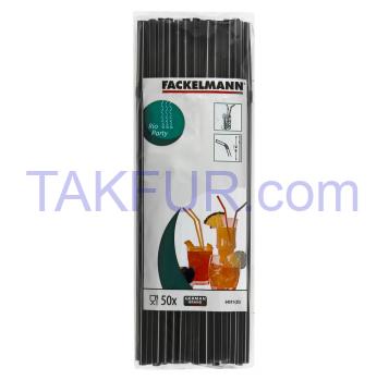 Трубочки для коктейлей Fackelmann №54511 гибкие 50шт/уп - Фото