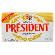Масло President кисл нес 82% 200г - Фото