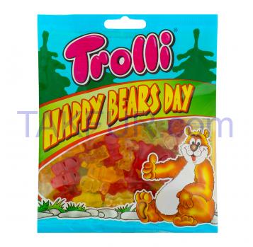 Конфеты Trolli Happy Bears Day жевательные фруктовые 100г - Фото