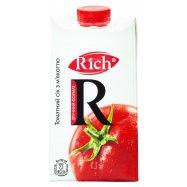 Сок Томатный с мякотью и солью Rich 0,5л - Фото