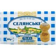 Масло Селян 72,5% сол слад/сл 200г - Фото