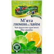 Чай Мудр Прир Мята лим Поліськ 1.5г*20шт - Фото