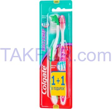 Зубная щетка Colgate Массажер сред 1+1шт - Фото