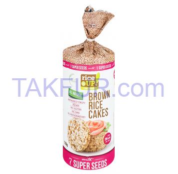 Хлебцы Rice Up! 7 супер семян рисовые цельнозерновые 120г - Фото