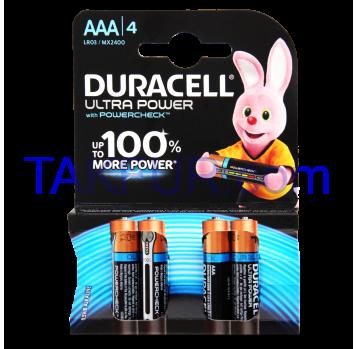 Батарейка Duracell AAA 1.5V LR03 4шт/уп - Фото