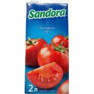 Сок Sandora Томатный с солью 2л - Фото