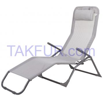 Лежак Aro текстильный белый с подушкой - Фото