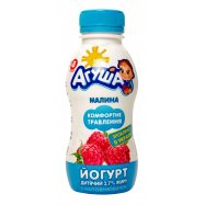 Йогурт Агуша 2,7% Малина 200г - Фото