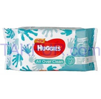 Салфетки влажные Huggies All Over Clean детские 56шт - Фото