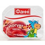 Йогурт Фанні персик 1,5% 115г - Фото