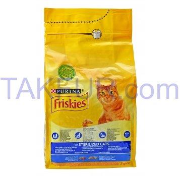 Корм для стериліз кішок і котів Purina Friskies сухий 1,5кг - Фото
