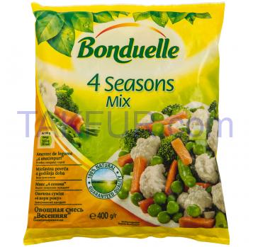 Смесь овощная Bonduelle 4 времени года замороженная 400г - Фото
