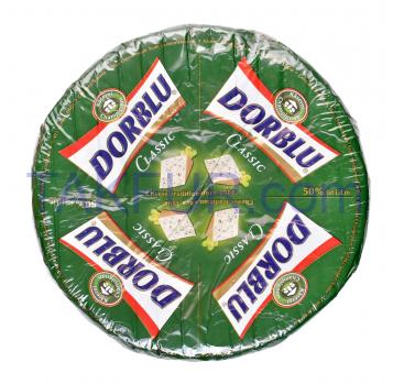 Сыр Dorblu Classic с голубой плесенью полутверд 50% весовой - Фото
