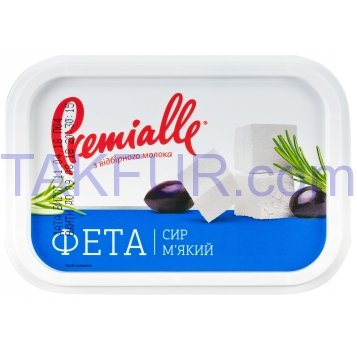 Сыр Premialle Фета мягкий 45% 500г - Фото