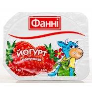Йогурт Фанни клубника 1,5% 115г - Фото