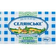 Масло Селянське бутербр 63,0% 200г - Фото