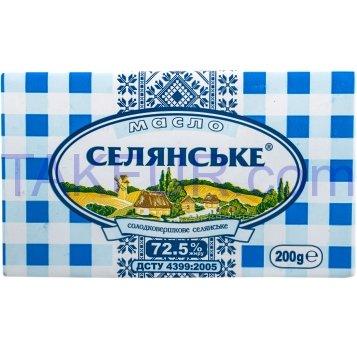 Масло Селян 72,5% слад/сл кр 200г - Фото