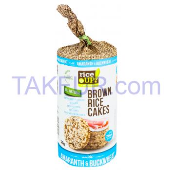 Хлебцы Rice Up рисовые цельнозерновые с гречк и амаран 120г - Фото