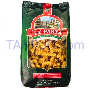 Изделия макаронные La Pasta Спиральки фигурн короткие 400г - Фото