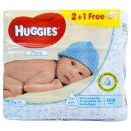 Влажные салфетки Huggies Pure 3*56шт - Фото