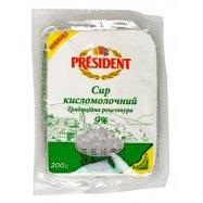 Творог President Трад рец 9% 200г - Фото